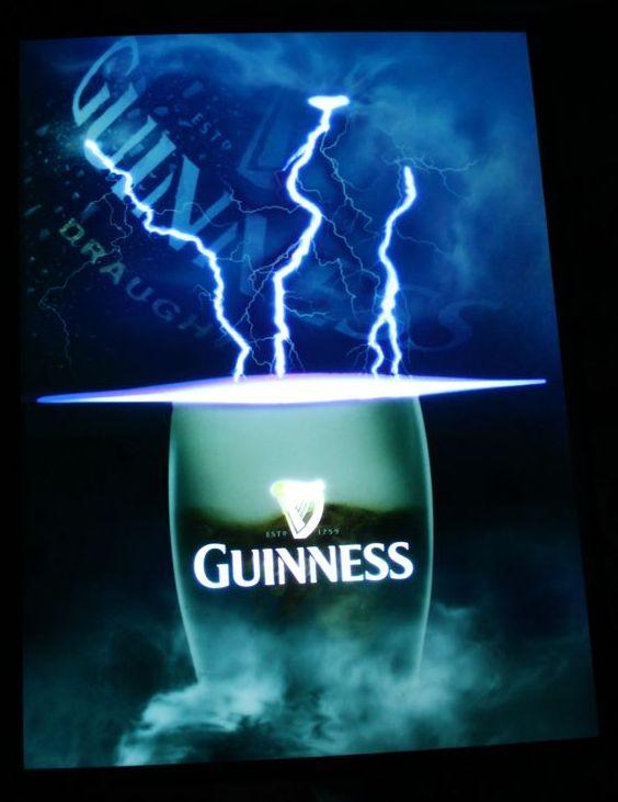 吉尼斯吉尼斯啤酒有机 EL 标志 el 场致发光照明霓虹灯招牌的下一代带领霓虹灯广告霓虹灯美式工具商店招牌霓虹光管