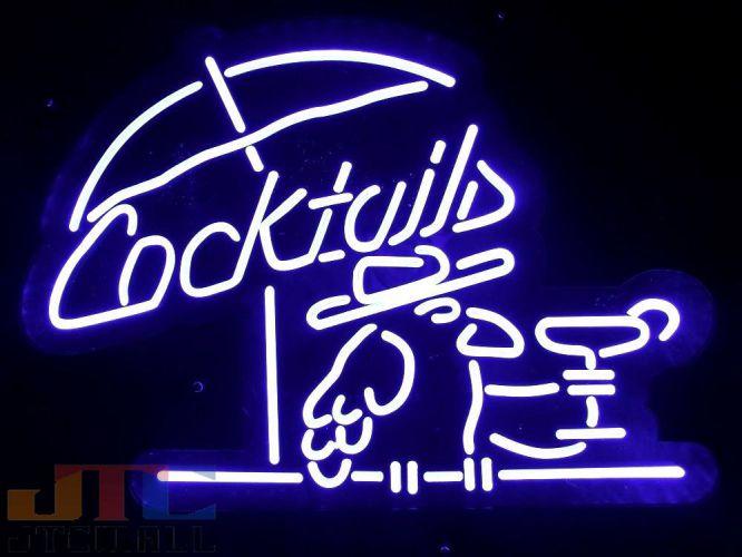 【LED3D看板はメーカーの生産終了に伴い、今ある在庫限りで販売終了となります。】Cocktails カクテル バード LED 3D ネオン看板 ネオンサイン 広告 店舗用 アメリカン雑貨 看板 ネオン管