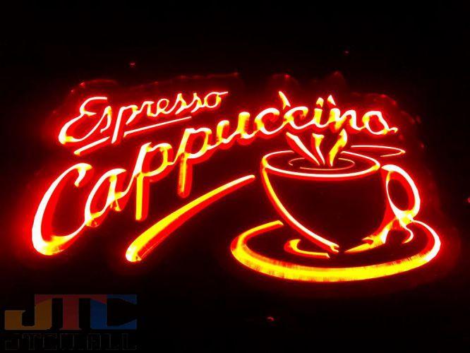 【LED3D看板はメーカーの生産終了に伴い、今ある在庫限りで販売終了となります。】Espresso Cappuccino エスプレッソ カプチーノ LED 3D ネオン看板 ネオンサイン 広告 店舗用 アメリカン雑貨