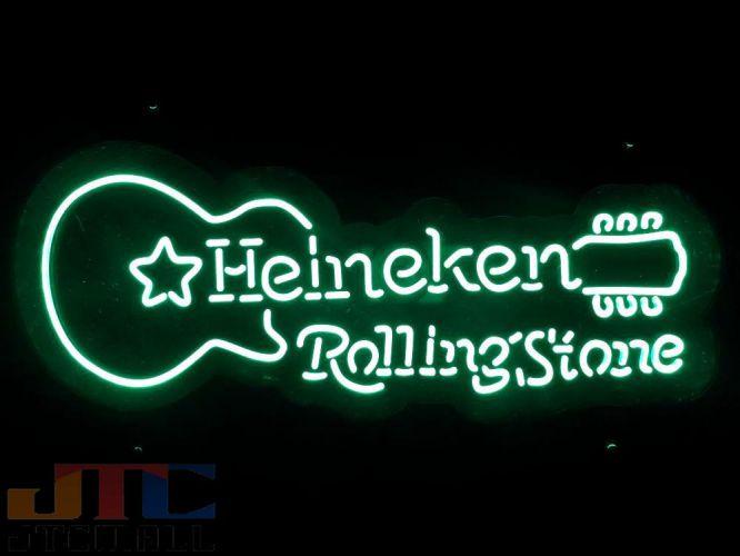 【LED3D看板はメーカーの生産終了に伴い、今ある在庫限りで販売終了となります。】Heineken Rolling Stones ハイネケン ローリングストーンズ ギター LED 3D ネオン看板 ネオンサイン 広告 店舗用