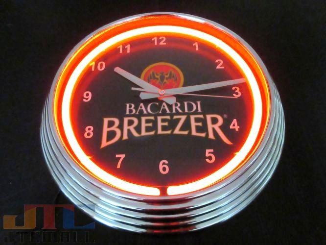 【ネオンクロックはメーカーの生産終了に伴い、今ある在庫限りで販売終了となります。】バカルディー BACARDI ネオン クロック 時計 BAR Cafe ネオン管 ネオン看板