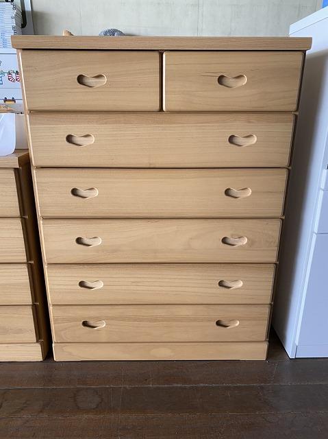 新品 ハイチェスト桐箪笥たんすタンス 国産品 限定10台 送料無料 wk7853