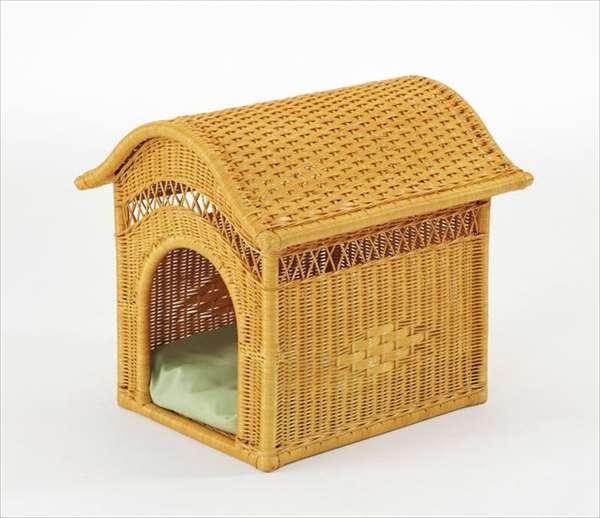 ペットハウス R-283ライトブラウン 籐 籐家具 ペットハウス 和風リビングルーム籐ラタン製 輸入品 完成品