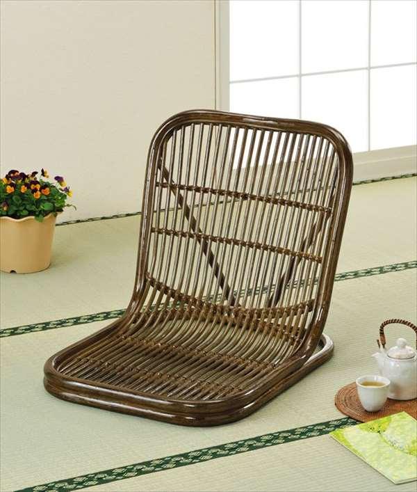 座椅子 S-14Bブラウン 籐 籐家具 座椅子 椅子 イス 和風リビングルーム籐ラタン製 輸入品 完成品
