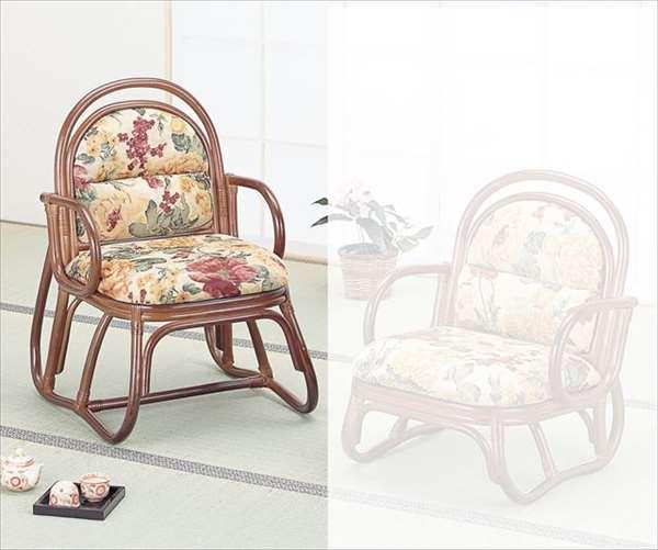 【送料無料】 籐安楽座椅子 ハイタイプ S-51Bブラウン 籐 籐家具 座椅子 椅子 イス 和風リビングルーム籐ラタン製 輸入品 完成品