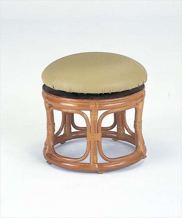 回転スツール ロータイプ S-60ブラウン 籐 籐家具 座布団 スツール 椅子 イス 回転式 和風リビングルーム籐ラタン製 輸入品 完成品