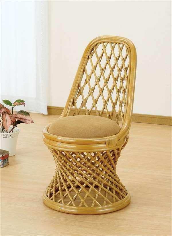 チェア S-71 ライトブラウン 籐 籐家具 座椅子 椅子 イス 回転式 和風リビングルーム籐ラタン製 輸入品 完成品