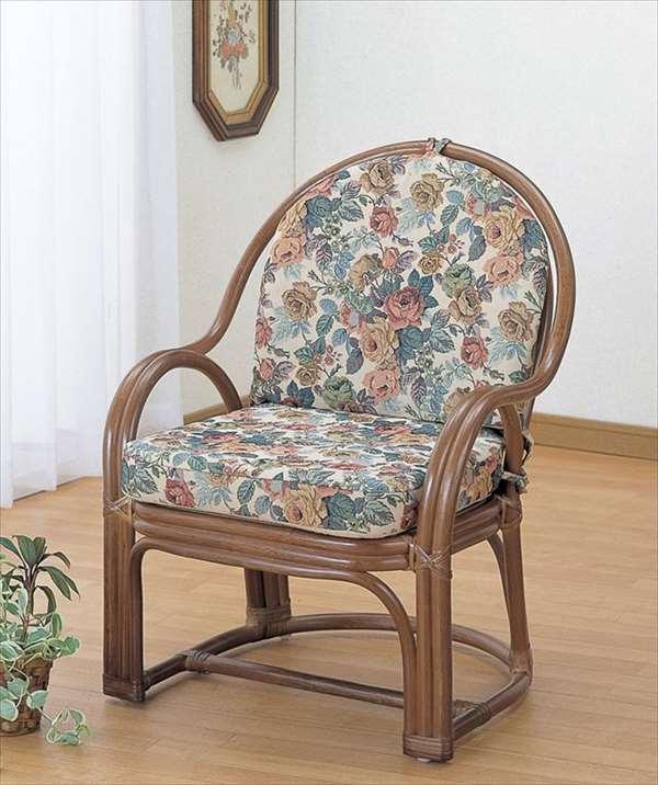 アームチェア S-105B ブラウン 籐 籐家具 座椅子 椅子 イス 和風リビングルーム籐ラタン製 輸入品 完成品