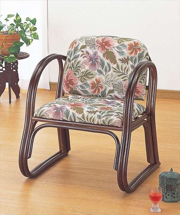 籐デラックス思いやり座椅子 ハイタイプ S-124ブラウン 籐 籐家具 座椅子 椅子 イス 和風リビングルーム籐ラタン製 輸入品 完成品