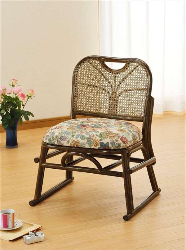 【送料無料】 籐スタッキング座椅子 S-141Bブラウン 籐 籐家具 座椅子 椅子 イス スタッキング座椅子 和風リビングルーム籐ラタン製 輸入品 完成品