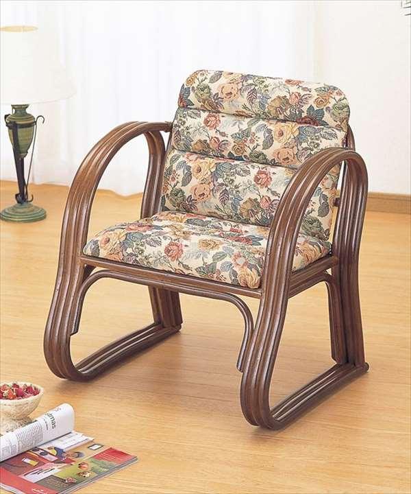 籐思いやりもこもこ座椅子 S-215Bブラウン 籐 籐家具 座椅子 椅子 イス 和風リビングルーム籐ラタン製 輸入品 完成品