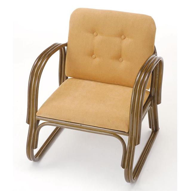 【送料無料】 ワイド便利座椅子 ミドルタイプ S-222Bブラウン 籐 籐家具 座椅子 椅子 イス 和風リビングルーム籐ラタン製 輸入品 完成品