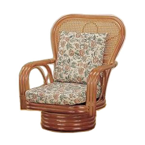 ラウンドチェア ミドルタイプ S-562 ライトブラウン 籐 籐家具 座椅子 椅子 イス 回転式 和風リビングルーム籐ラタン製 輸入品 完成品