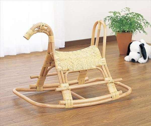 籐ロッキング子供馬 S-564ナチュラル 籐 籐家具 ロッキング子供馬 和風リビングルーム籐ラタン製 輸入品 完成品