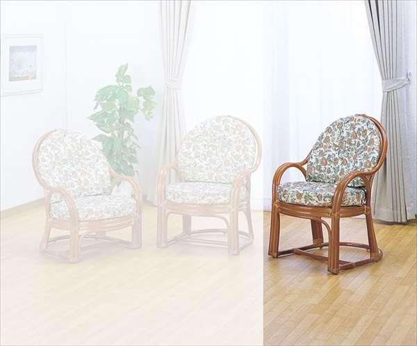 【送料無料】 アームチェアハイタイプ S-573 ライトブラウン 籐 籐家具 座椅子 椅子 イス 和風リビングルーム籐ラタン製 輸入品 完成品