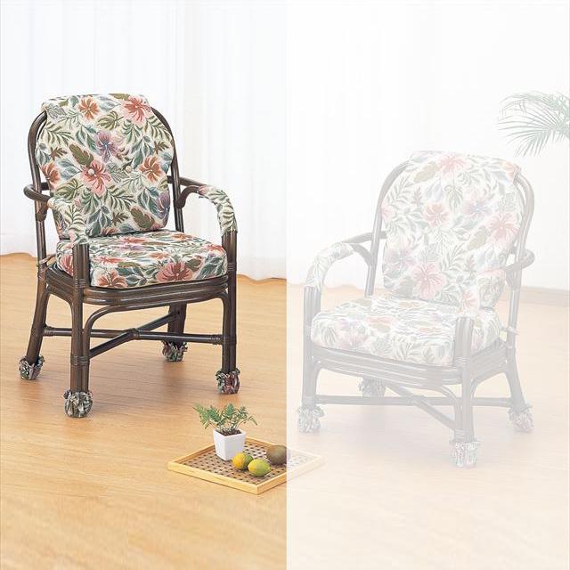 【送料無料】 アームチェアハイタイプ S-657B ブラウン 籐 籐家具 座椅子 椅子 イス 和風リビングルーム籐ラタン製 輸入品 完成品