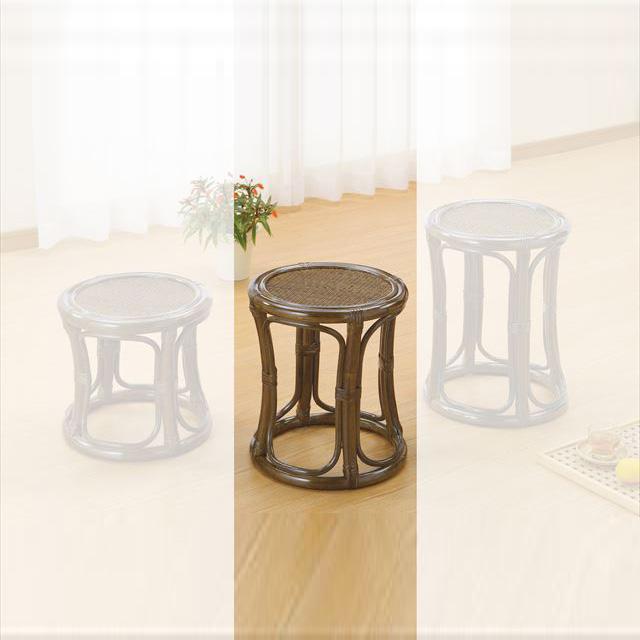 スツールミドルタイプ S-5711Bブラウン 籐 籐家具 スツール 椅子 イス 和風リビングルーム籐ラタン製 輸入品 完成品