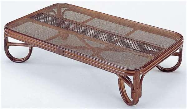 座卓150cm T-125Bブラウン 籐 籐家具 テーブル センターテーブル リビングテーブル 座卓 アジアンリビングルーム籐ラタン製 輸入品 完成品