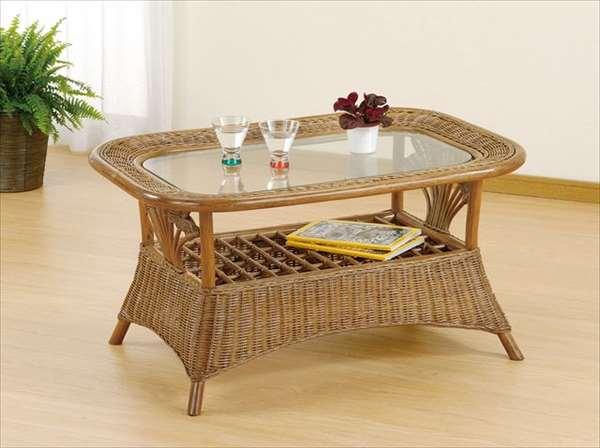 テーブル T-161ブラウン 籐 籐家具 テーブル センターテーブル リビングテーブル アジアンリビングルーム籐ラタン製 輸入品 完成品