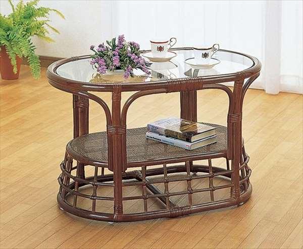 【送料無料】 テーブル T-450Bブラウン 籐 籐家具 テーブル センターテーブル リビングテーブル アジアンリビングルーム籐ラタン製 輸入品 完成品