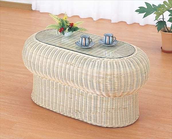 テーブル T-703ナチュラル 籐 籐家具 テーブル センターテーブル リビングテーブル アジアンリビングルーム籐ラタン製 輸入品 完成品