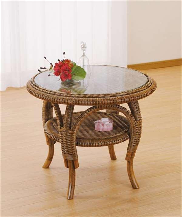 籐テーブル T-707ブラウン 籐 籐家具 テーブル センターテーブル リビングテーブル アジアンリビングルーム籐ラタン製 輸入品 完成品