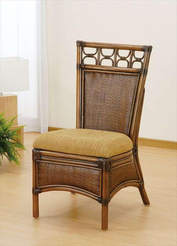 【送料無料】 ダイニングチェア U-1002 ブラウン 籐 籐家具 ダイニングチェア 椅子 イス アジアンリビングルーム籐ラタン製 輸入品 完成品