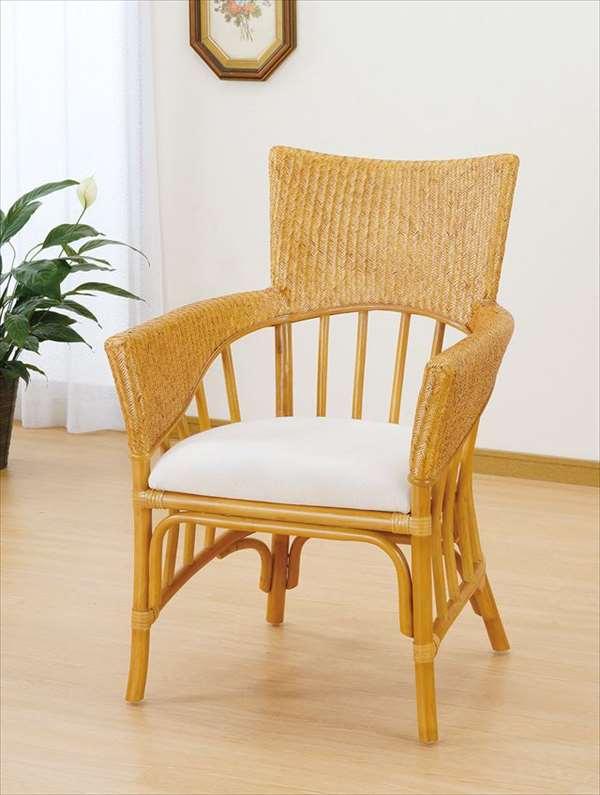 【送料無料】 ダイニングチェア U-1003 ライトブラウン 籐 籐家具 ダイニングチェア 椅子 イス アジアンリビングルーム籐ラタン製 輸入品 完成品