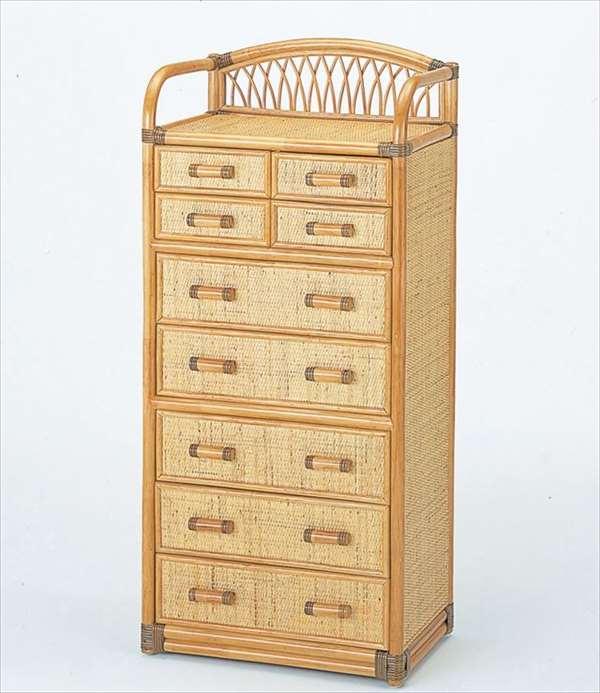 チェスト9杯タイプ W-703ライトブラウン 籐 籐家具 収納 チェスト アジアンリビングルーム籐ラタン製 輸入品 完成品