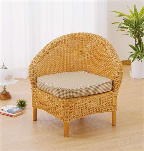 アームチェア Y-129 ライトブラウン 籐 籐家具 座椅子 椅子 イス アジアンリビングルーム籐ラタン製 輸入品 完成品