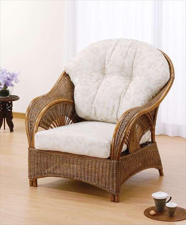 アームチェア Y-161 ブラウン 籐 籐家具 座椅子 椅子 イス アジアンリビングルーム籐ラタン製 輸入品 完成品