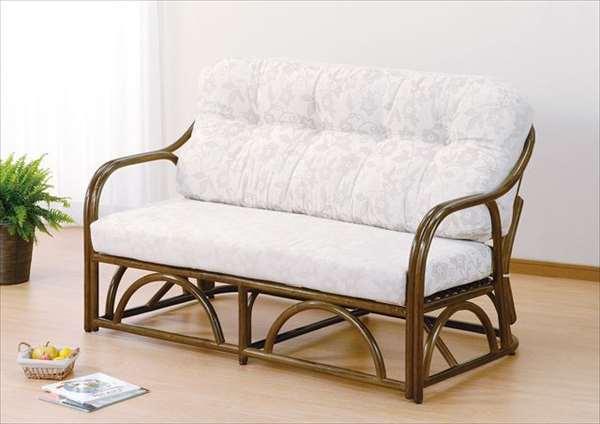 2Pラブチェア Y-172B ブラウン 籐 籐家具 チェア ラブチェア ソファ アジアンリビングルーム籐ラタン製 輸入品 完成品