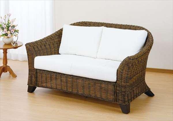 ラブチェア Y-3002 ダークブラウン 籐 籐家具 チェア ラブチェア ソファ アジアンリビングルーム籐ラタン製 輸入品 完成品