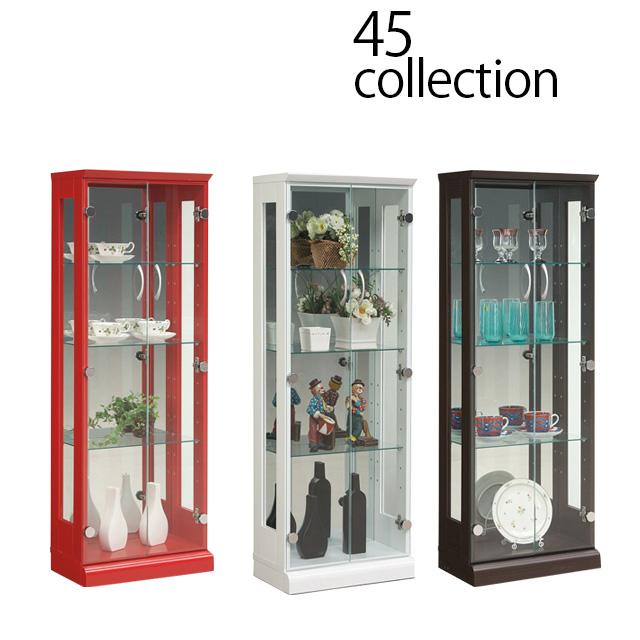45コレクションボード コレクションケース キュリオケース ショーケース フィギュア ディスプレイ ラック ケース 棚 ボード ショーケース キャビネット 壁面収納 幅45cm 高さ128cm 完成品