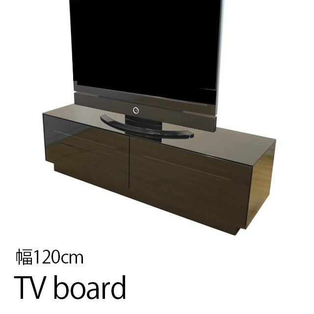 テレビ台 幅120cm 高さ44cm ローボード テレビボード テレビラック TV台 木製 32インチ 強化ガラス TVボード ロータイプ 一人暮らし ブラック 黒
