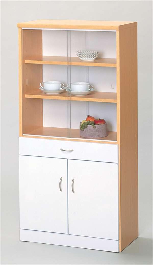 【代引不可】 食器棚 キッチン 収納 ボックス 食器 棚 シンプル キッチンルーム 台所 木製 輸入品 組立品 su05