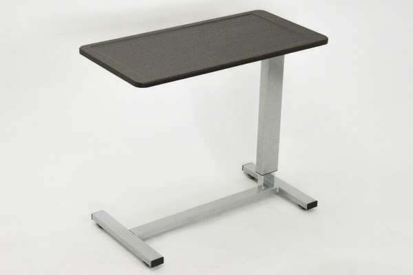 【代引不可】 サポートテーブル ダークブラウン 昇降テーブル テーブル 無段階昇降 キャスター付き サイドテーブル シンプルリビングルームスチール製 輸入品 組立品