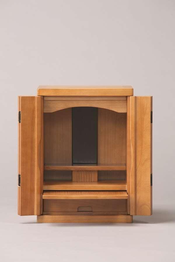 【代引不可】 ミニ仏壇15号 ライトブラウン ミニ仏壇 仏壇 収納 和風 和室 木製 輸入品 完成品