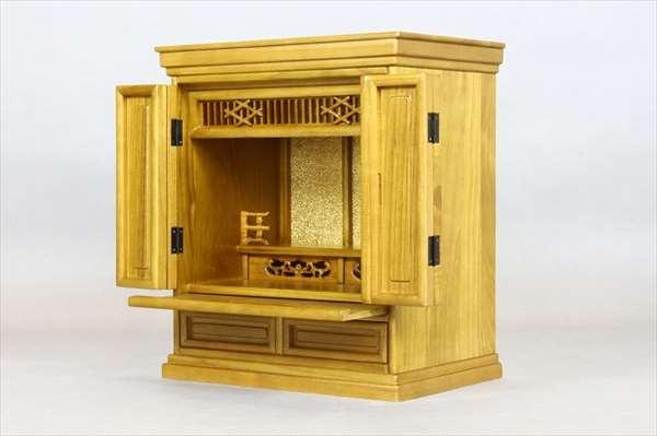 【代引不可】 モダン仏壇 風月16号420 ライトブラウン 上置仏壇 仏壇 収納 和風 和室 木製 輸入品 完成品