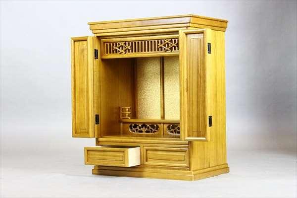 【代引不可】 モダン仏壇 風月20号470 ライトブラウン 上置仏壇 仏壇 収納 和風 和室 木製 輸入品 完成品