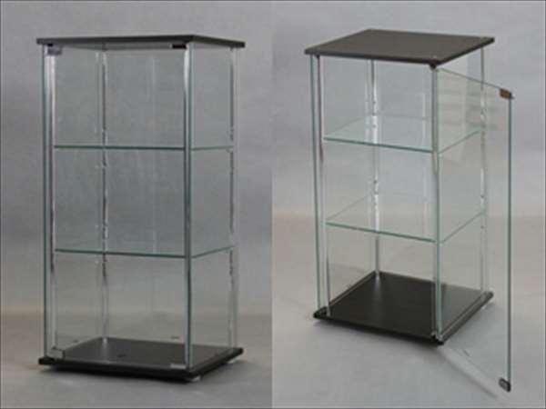 【代引不可】 コレクションケース ダークブラウン リビング 収納 家具 ケース コレクション ボード 飾り棚 シンプル リビングルーム ガラス製 輸入品 組立品 su92