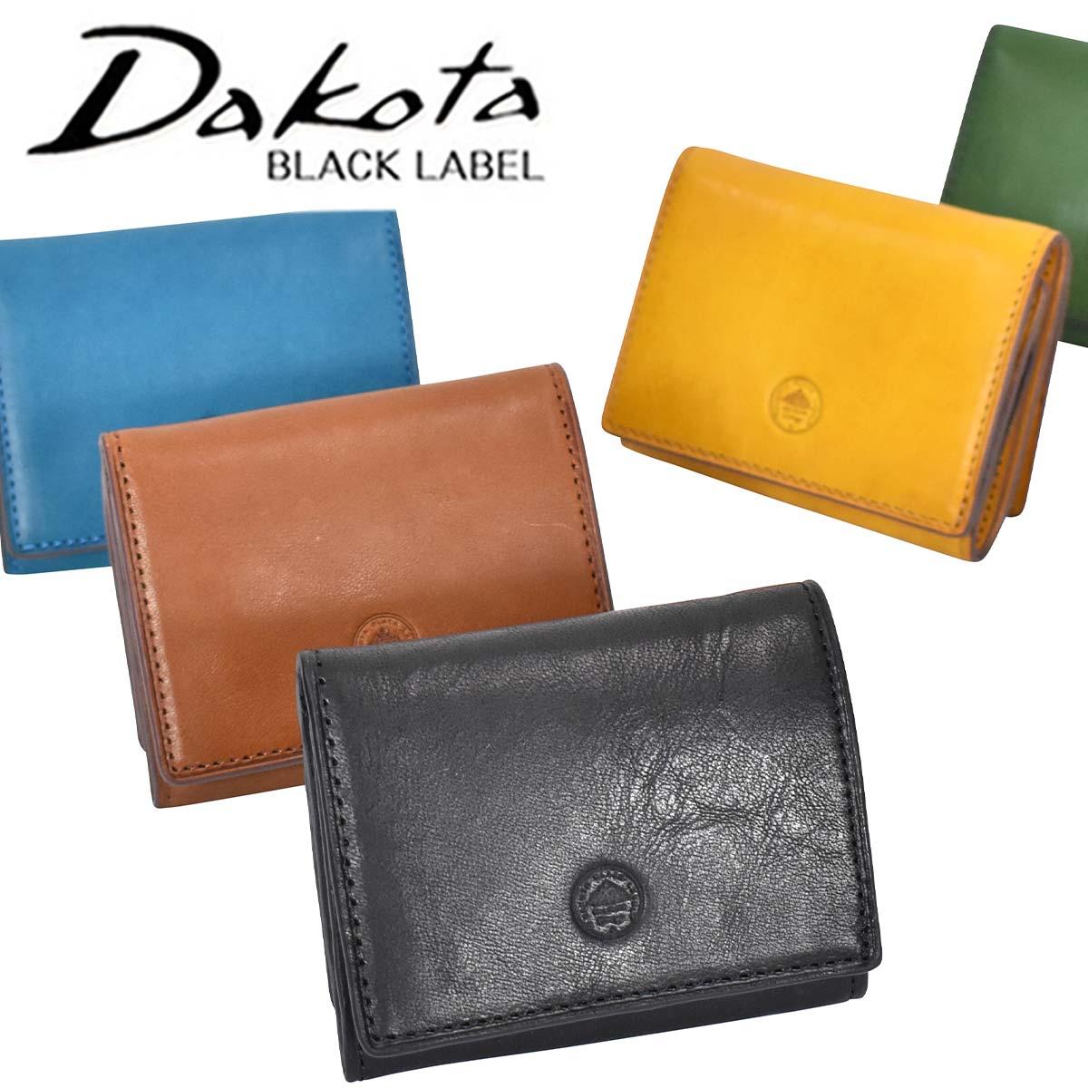 Dakota BLACK LABEL ダコタブラックレーベル ミニモ 三つ折り財布 メンズ 本革 レザー ダコタ ブラックレーベル 財布 サイフ 三つ折り 3つ折り財布 小物 ギフト プレゼント 彼氏 おしゃれ | 折りたたみ