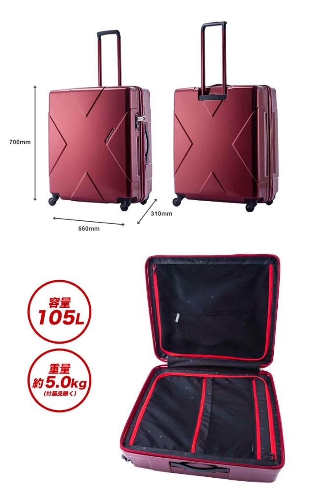 "hideowakamatsu""百万最大""超大型旅行箱LL尺寸105L 5.0kg 360度旋转寂静解说员4轮TSA锁头W拉链飞翔距离情况后备箱回乡旅行10P03Dec16"