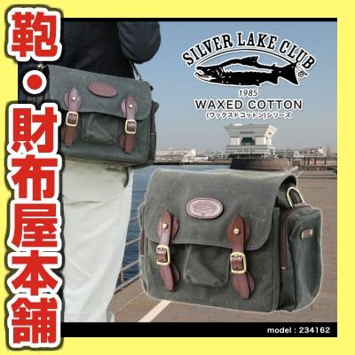 ショルダーバッグ メンズ SILVER LAKE CLUB シルバーレイククラブ WAXED COTTON ワックスドコットン 肩掛け 斜めがけバッグ 革付属コンビ A4未満 日本製 撥水 バッグ メンズバッグ ブランド プレゼント ランキング ギフト 小さめ