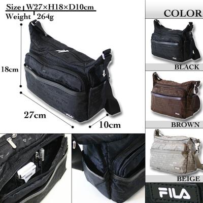 Wide model light weight bag men bag brand present ranking gift less than bag  nylon A4 at shoulder bag men FILA Fila Jacquard jacquard shawl bias f60b84bd1bc09