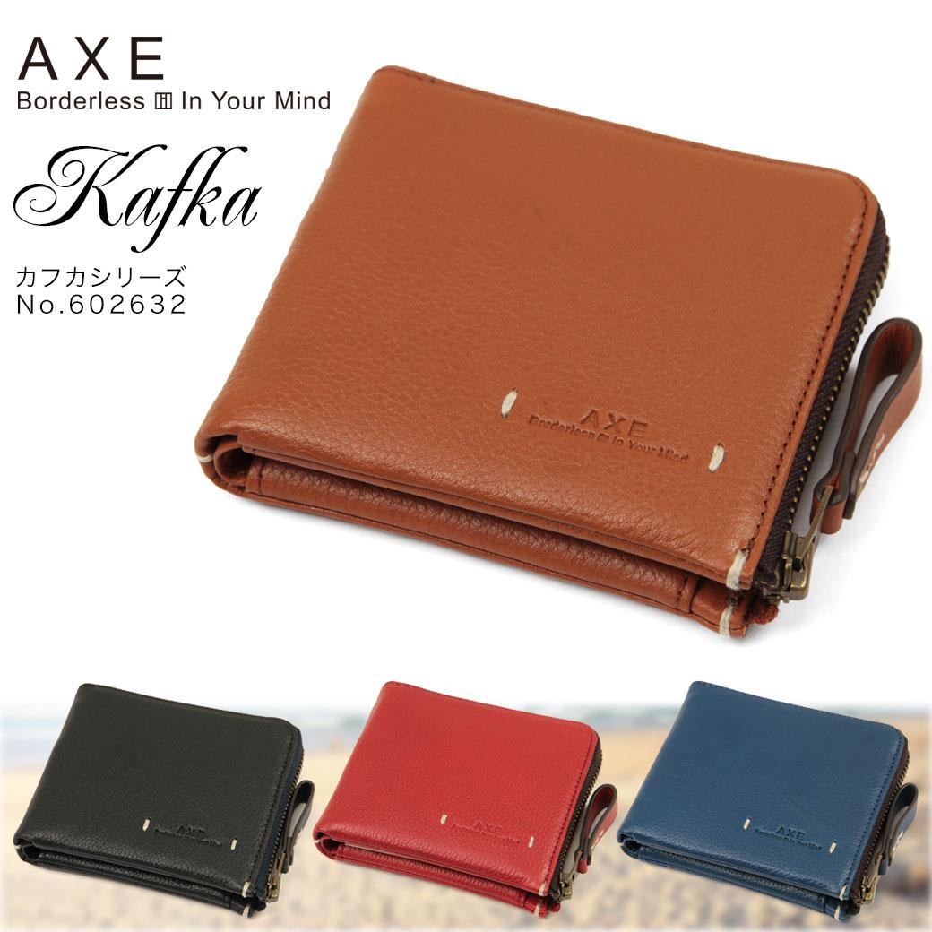 4cc6c724daf6 二つ折り財布 メンズ AXE アックス KAFKA カフカ 二つ折り 折りたたみ 本 ...