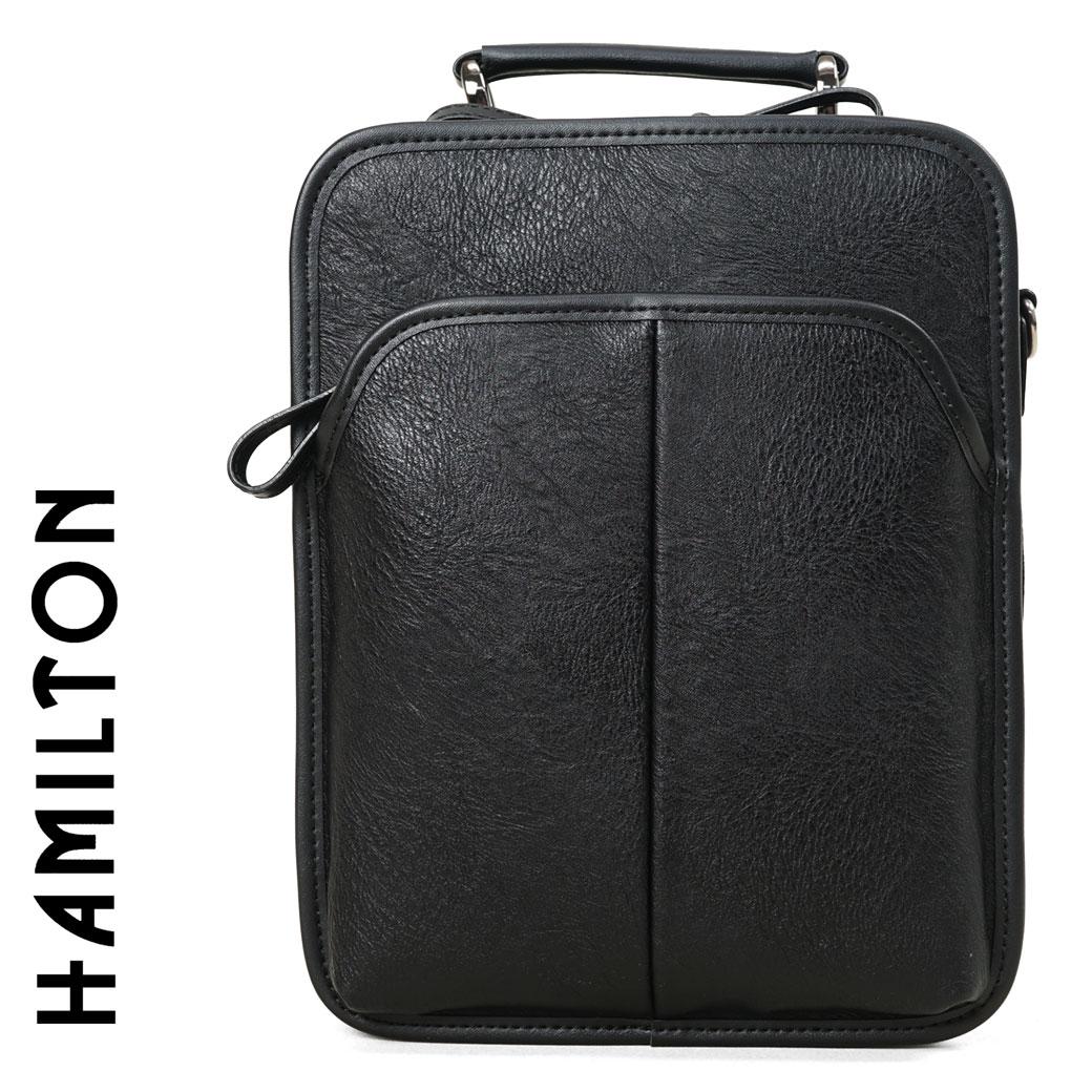 セカンドバッグ メンズ ブランド ビジネスバッグ 軽量 HAMILTON ハミルトン 2way ショルダーバッグ A4未満 縦型 セカンドバック ショルダーバック バッグ メンズバッグ 鞄 かばん bag カバン (16427) 海外旅行バッグ business bag men's