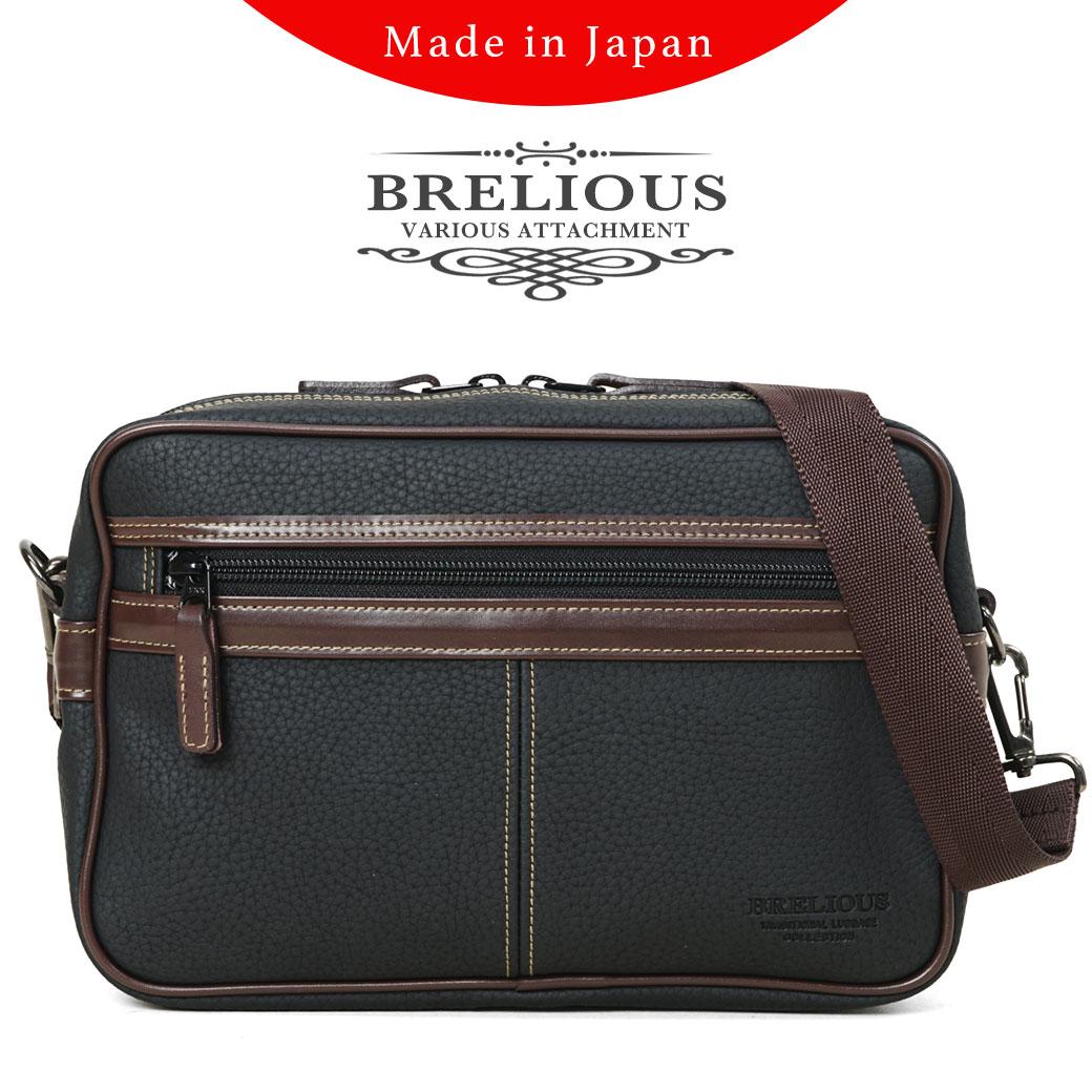 【全品クーポン&キャッシュレス5%対象】ショルダーバッグ メンズ BRELIOUS ブレリアス 斜めがけバッグ 日本製 A4未満 横型 軽量 ショルダーバック バッグ メンズバッグ ブランド プレゼント 鞄 かばん カバン bag 豊岡 (16430) 海外旅行バッグ men's