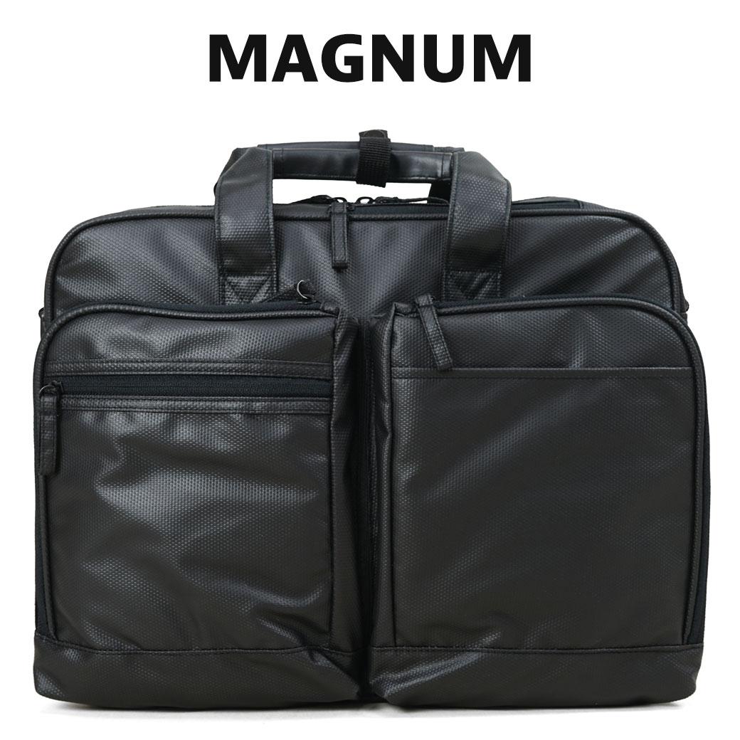 【全品クーポン&キャッシュレス5%対象】ブリーフケース ビジネスバッグ メンズ 軽量 MAGNUM マグナム 2way 2ルーム 2室 出張 ショルダーバッグ B4 横型 ビジネスバック PC対応 撥水 通勤バッグ バッグ メンズバッグ 鞄 かばん bag カバン (26640) business bag men's