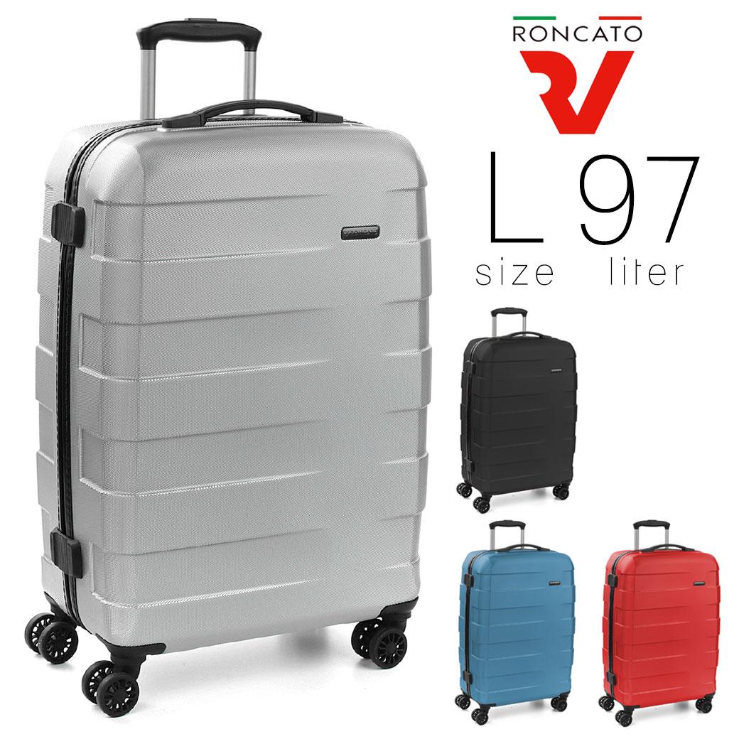 スーツケース メンズ キャリーケース RONCATO ロンカート RV-18 旅行 出張 大型 97L Lサイズ ポリカーボネート ハード ファスナータイプ イタリア製 縦型 TSAロック 4輪 軽量 メンズバッグ ブランド ランキング プレゼント (5801)